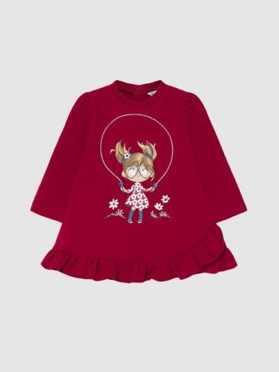 Vestido Bebé Menina Felpa Boneca Mayoral