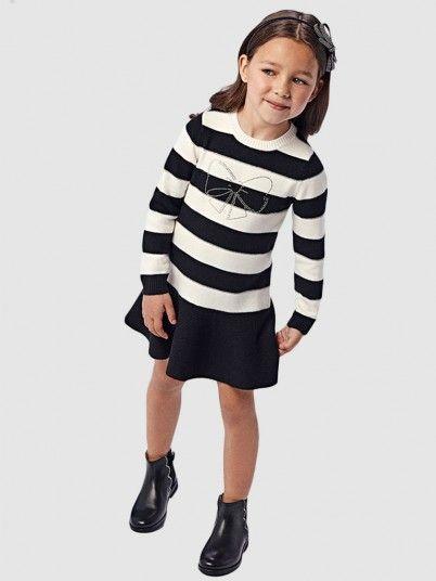 Vestido Menina Riscas Com Laço Mayoral