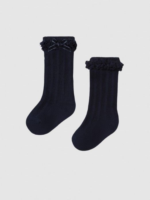 Socks Baby Girl Navy Blue Mayoral