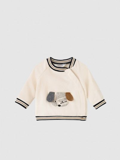 Sweatshirt Baby Boy Beige Mayoral
