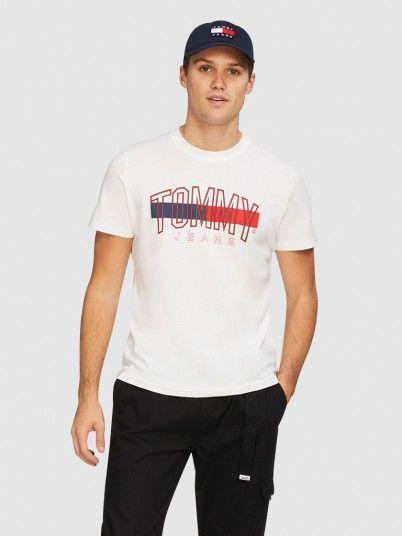 T-Shirt Homem Flag Tommy Jeans
