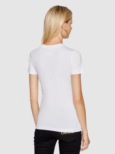 T-Shirt Mulher Logo Foil Versace