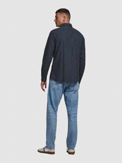 Shirt Man Navy Blue Jack & Jones