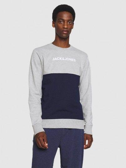 Sweatshirt Man Grey Jack & Jones