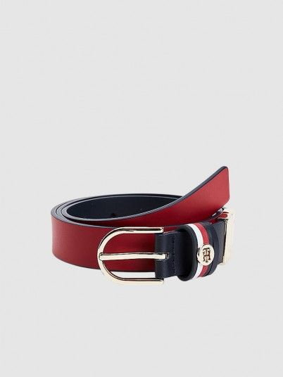 Belt Woman Red Tommy Jeans