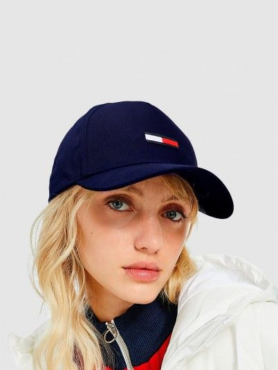 Hat Woman Navy Blue Tommy Jeans