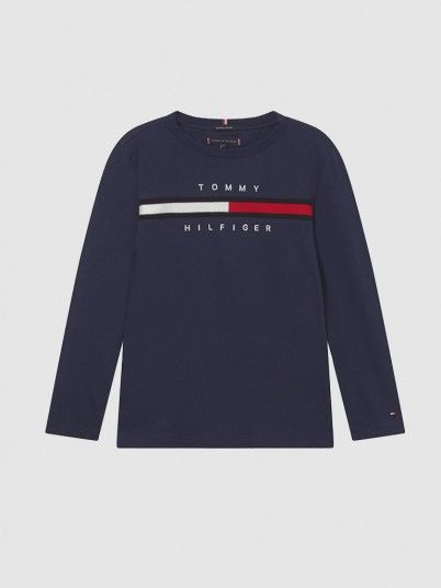 Sweatshirt Menino Flag Rib Insert Tommy Jeans