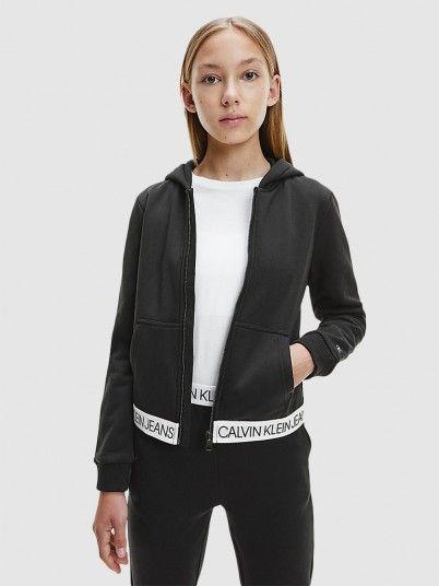 Fato de Treino Menina Logo Tape Zip Calvin Klein