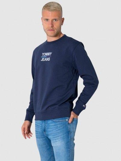 Sweatshirt Man Navy Blue Tommy Jeans