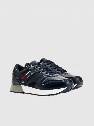 Sneakers Woman Navy Blue Tommy Jeans