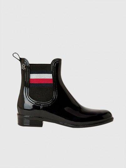 Rain Boots Woman Black Tommy Jeans
