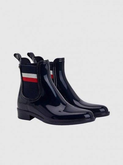 Rain Boots Woman Navy Blue Tommy Jeans