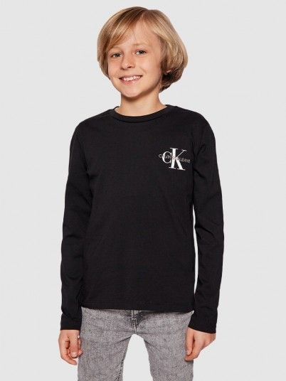 Sweatshirt Menino Chest Monogram Calvin Klein
