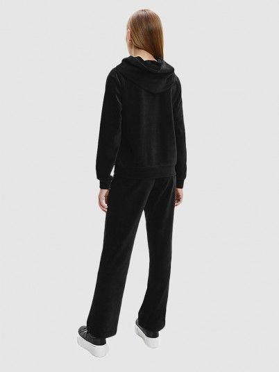 Sweatshirt Menina Rib Velour Boxy Calvin Klein