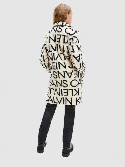 Casaco Menina Logo Aop Calvin Klein