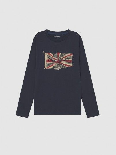 Sweatshirt Menino Flag Logo Pepe Jeans