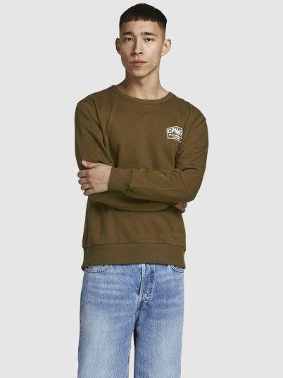 Sweatshirt Man Brown Jack & Jones