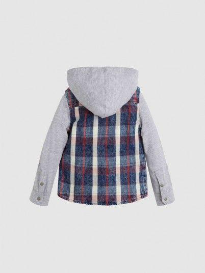 Camisa Menino Check Hood Guess