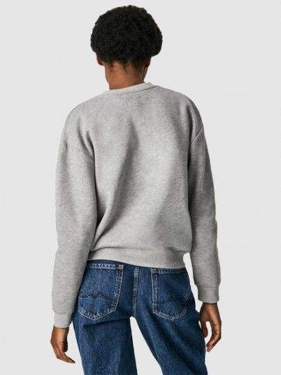 Sweatshirt Woman Grey Pepe Jeans London