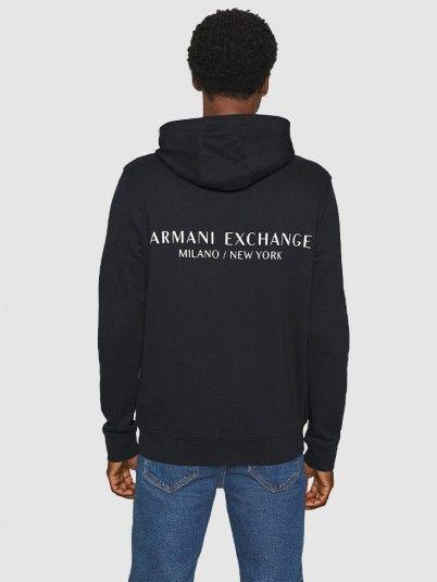 Sweatshirt Man Navy Blue Armani Exchange