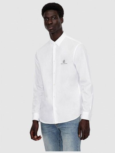 Shirt Man White Armani Exchange