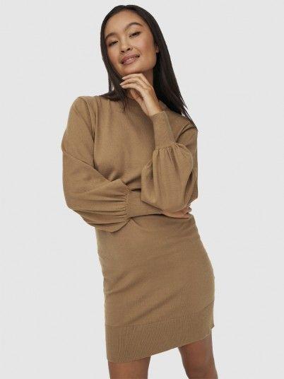 Dress Woman Beige Only