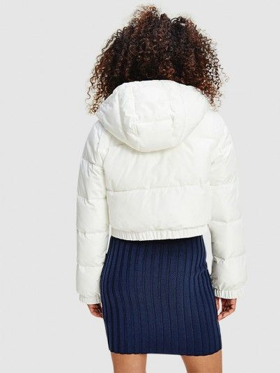 Kispo Mulher Cropped Puffer Tiommy Jeans