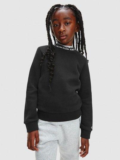 Sweatshirt Menina Intarsia Calvin Klein