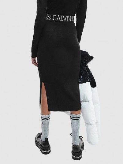 Saia Mulher Logo Waistband Knitted Calvin Klein