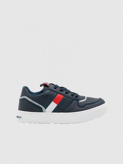 Sapatilha Menino Low Cut Lace-Up Tommy Jeans