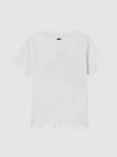 T-Shirt Menino Neck Vintage Logo Lacoste