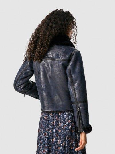 Jacket Woman Dark Blue Pepe Jeans London